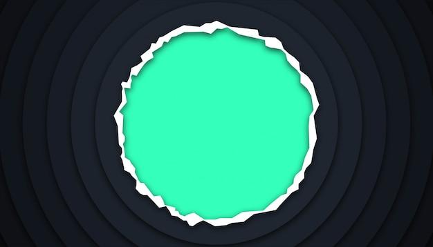 Cercle fond géométrique avec des formes découpées en papier