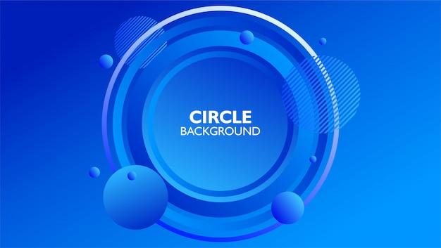 Cercle forme composition abstrait en couleur bleu