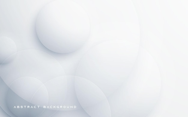 Cercle forme fond abstrait blanc
