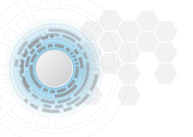 Cercle futuriste technologie abstraite science-fiction