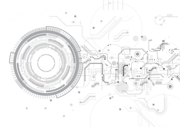 Cercle gris technologie vecteur fond