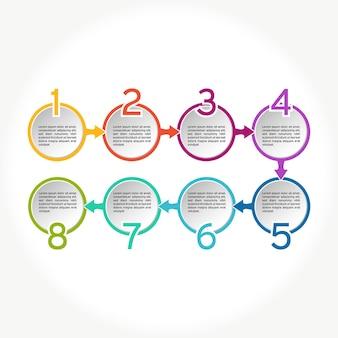 Cercle infographique. diagrammes commerciaux.