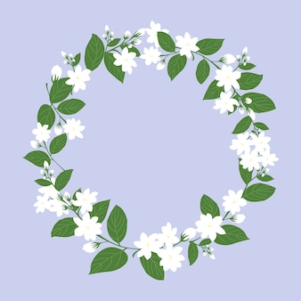 Cercle de jasmin blanc