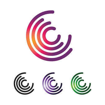 Cercle lettre c logo