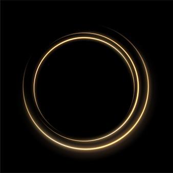 Cercle de ligne de lumière or