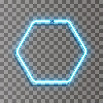 Cercle de ligne vecteur néon en mouvement