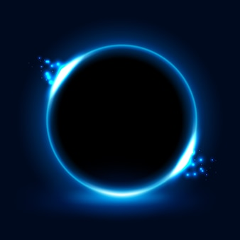 Cercle de lumière bleue