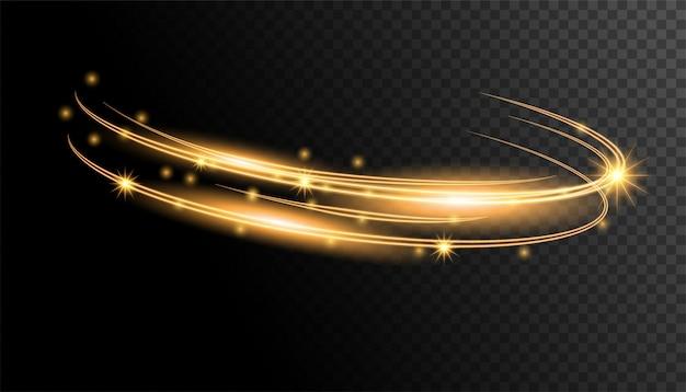 Cercle de lumière d'or