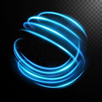 Cercle lumineux abstrait, anneau lumineux élégant. illustration