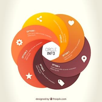 Cercle modèle infograhic