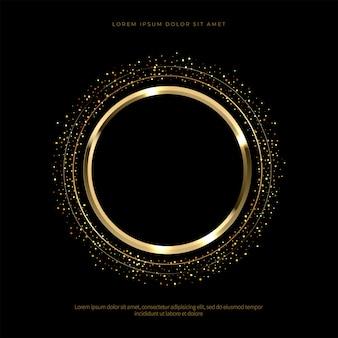 Cercle d'or de luxe avec fond de paillettes