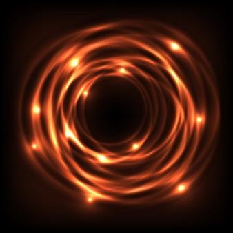 Cercle orange d'énergie