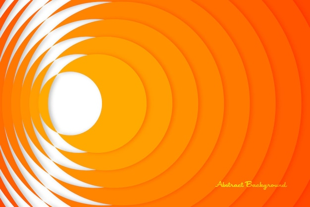 Cercle orange à jaune half cut popping layered minimal background abstract