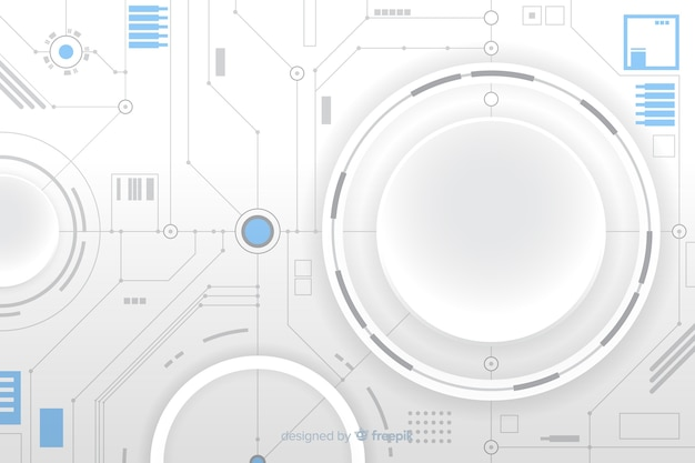 Cercle en papier avec fond de carte de circuit imprimé