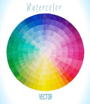Cercle spectral multicolore