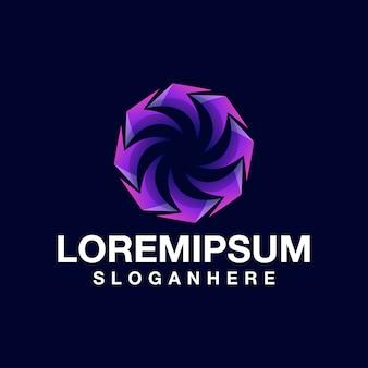 Cercle en spirale de logo de couleur moderne