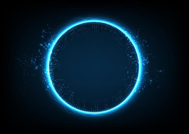 Cercle technologie abstrait