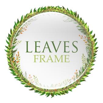 Cercle vert feuilles cadre