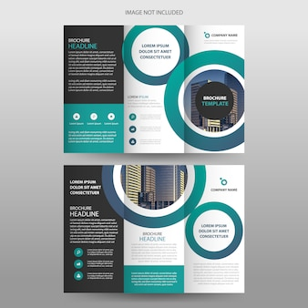 Cercle vert tri-fold brochure flyer design