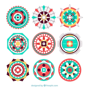 Cercles abstraits dans un style ethnique