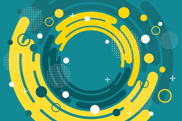 Cercles abstraits fond de memphis