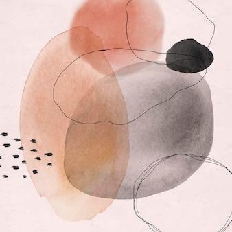 Cercles aquarelles abstraits colorés
