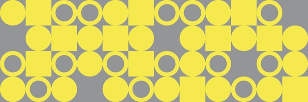 Cercles et carrés géométriques, motif abstrait