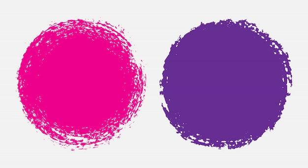 Cercles de couleur grunge