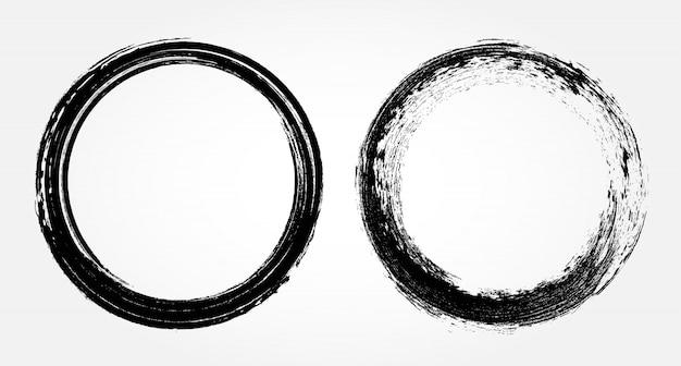 Cercles de coups de pinceau grunge