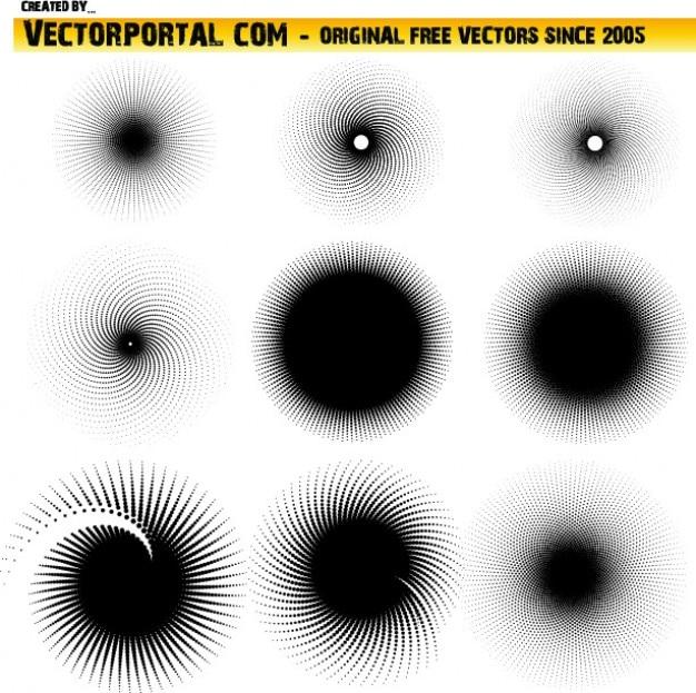 Cercles en demi-teintes définies