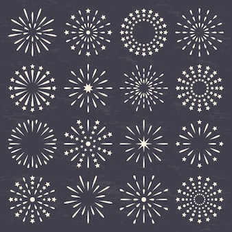 Cercles fabriqués avec des lignes et des points