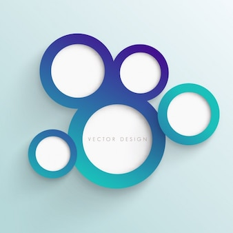 Cercles fond turquoise
