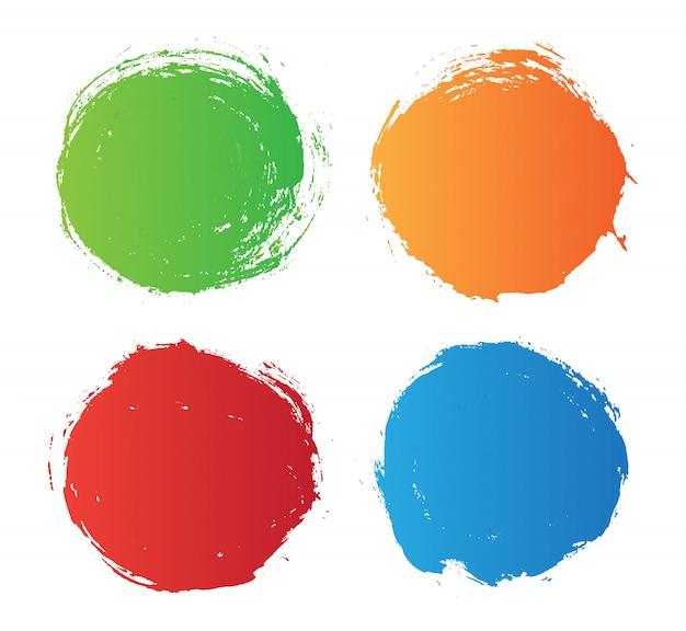 Cercles de grunge colorés