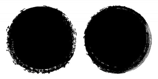 Cercles de grunge noirs