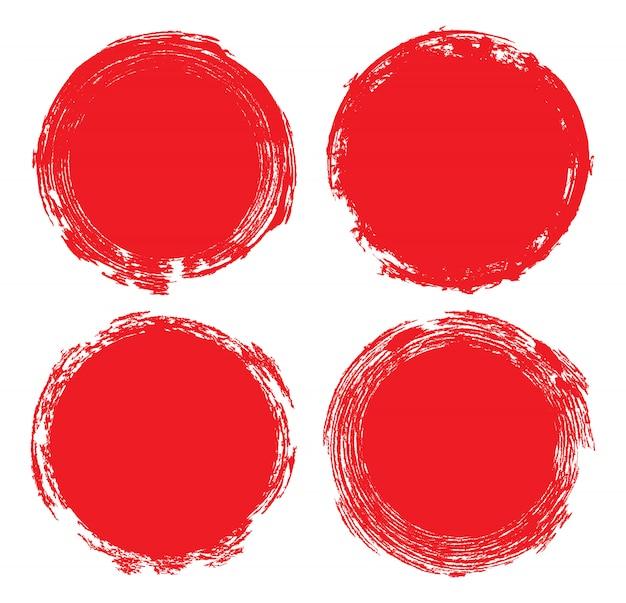 Cercles grunge rouges
