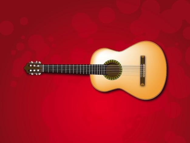 Cercles guitare vecteur d'illustration classique