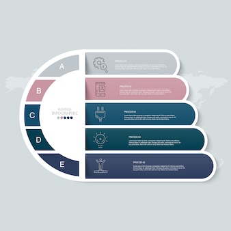Cercles infographiques et icônes pour concept d'entreprise.
