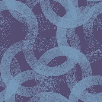 Cercles pointillés texture seamless pattern retro blue abstract background