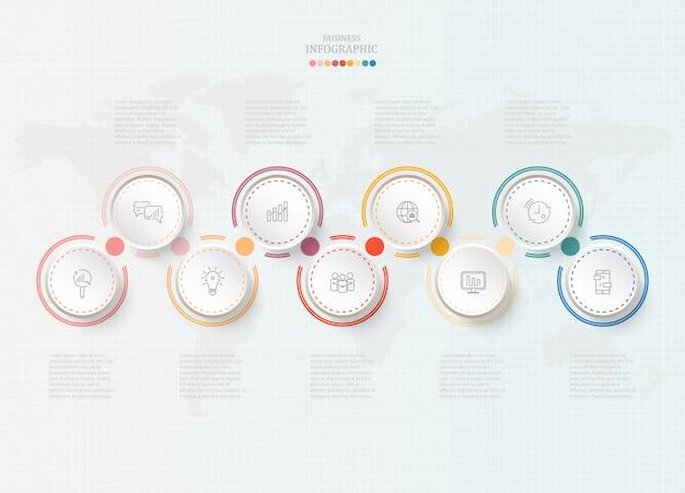Cercles standard infographique pour concept d'entreprise.