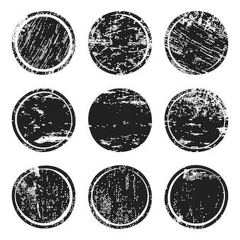Cercles de texture grunge noir