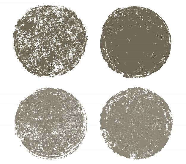 Cercles texturés grunge