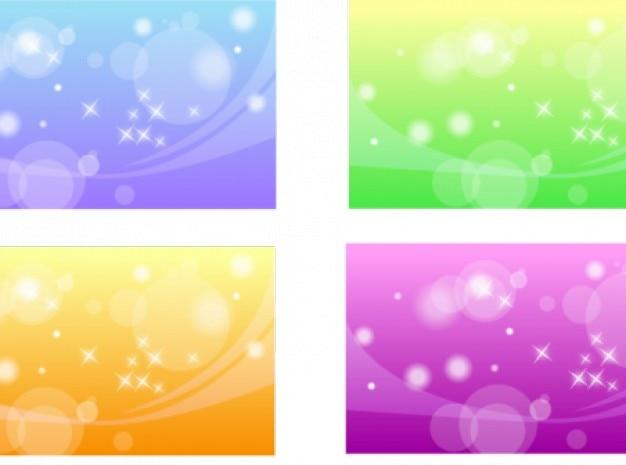 Cercles transparents lignes se chevauchent et ondulés avec des étoiles