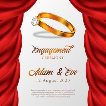 Cérémonie de fiançailles anneau d'or