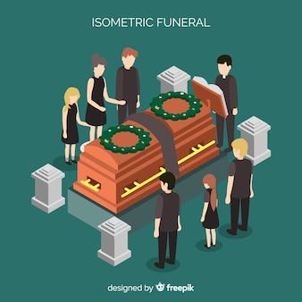 Cérémonie funèbre isométrique