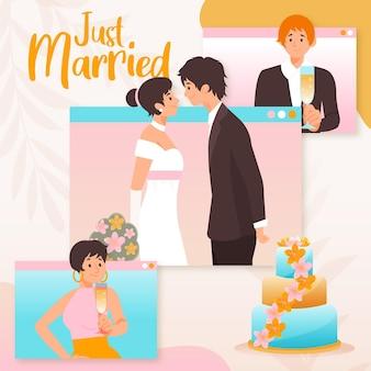 Cérémonie de mariage en ligne