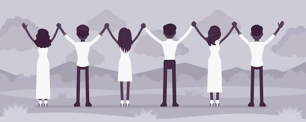 Cérémonie de prière en groupe