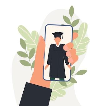 Cérémonie de remise des diplômes en ligne