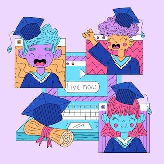 Cérémonie virtuelle de remise des diplômes