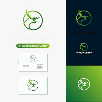 Cerf creative logo design concept vecteur modèle