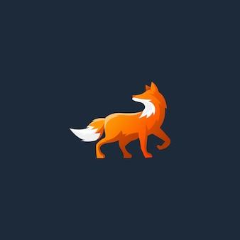 Cerf de feu art logo fox